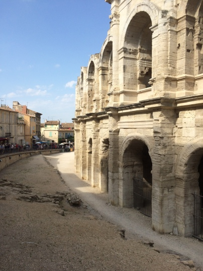 From outside amphitheater, Arles